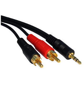 3.5mm Jack Plug to Phono Cable 3m Premium