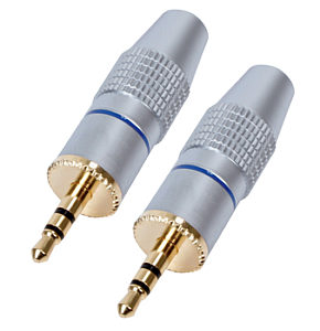 Image of 3.5mm Stereo Jack Plug HQ Gold Plated Metal Body 2 Pack