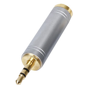 3.5mm Stereo Plug to 6.35mm Stereo Socket