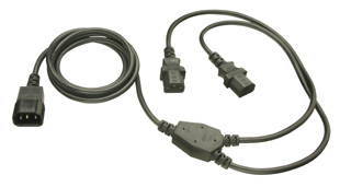 2.5m IEC Mains Power Y-Cable