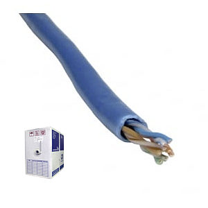 305m Box Reel CAT5e UTP Stranded Core Network Cable, Blue