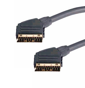 3m Scart Cable Gold Plated Fully Shielded Mini Coax 21 Pin Fully Wired