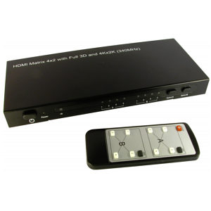 4x2 HDMI Matrix Switch 4k x 2k UHD 3D 1080p