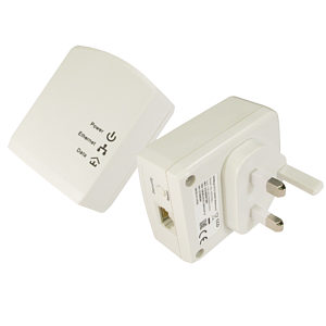 500Mbps Homeplug Network Adapter Powerline Ethernet Twin Pack
