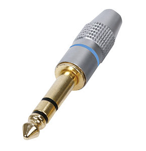 Image of 6.35mm Stereo Jack Plug HQ Gold Plated Metal Body 1/4 inch