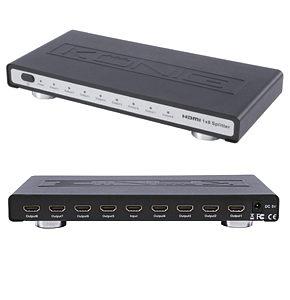 Konig 8 Way HDMI Splitter Distribution Amplifier 1 x 8
