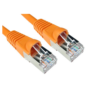 CAT6A Shielded Network Patch Cable, 0.25m, Orange
