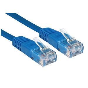 CAT5e Flat Network Cable, 5m, Blue