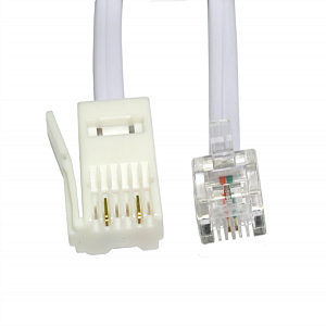 BT to RJ11 Cross Over Cable 3m 2 Wire