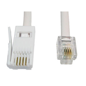 3m BT to RJ11 Modem Lead 4 Wire Straight