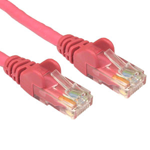CAT5e Economy Network Cable, 1m, Pink