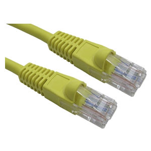 3m Yellow Snagless CAT5e Patch Cable UTP LSZH