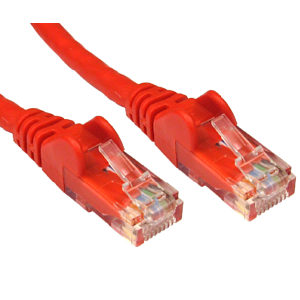 Cat6 LSOH Network Ethernet Patch Cable RED 1m