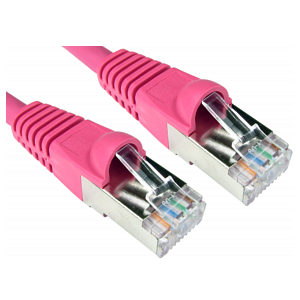 0.25m (25cm) CAT6A Network Cable Pink 10GBase-T