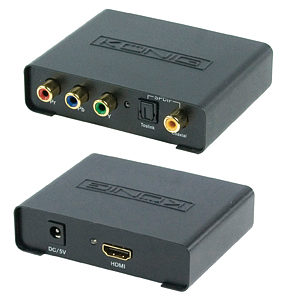 Image of Component Video to HDMI Converter with Digital Audio