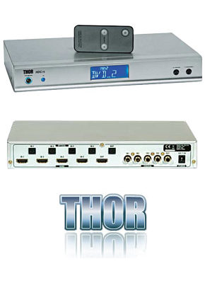 Thor HDC75 4 Way HDMI Switch - Remote Control 28580T