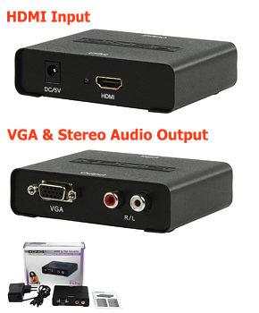 Konig HDMI to VGA Converter - HD15 + Audio