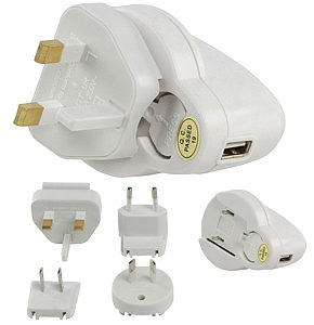 Ipod USB Travel Charger UK Europe Australia USA