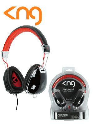 KNG Aeronaut Urban Aviator Black Headphones KNG5020