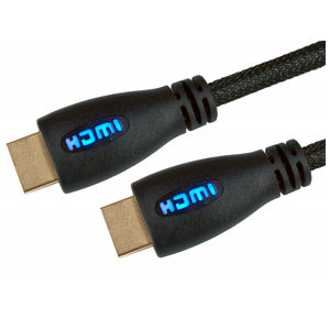 Light Up HDMI Cable 5m Blue - 1080p 4k 3D ARC