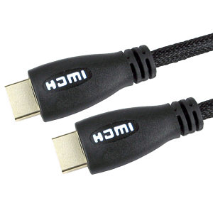 Light Up HDMI Cable 1m White  1080p 4k 3D ARC
