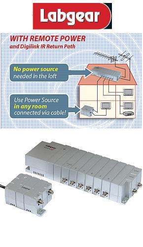 Labgear MSA283LP TV Aerial Amplifier  DAB Amplifier  Signal Booster