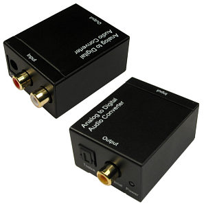 Phono to Optical Audio Converter Left Right Phono to TOSLink and Coax