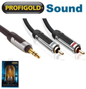 Profigold PROA3402 3.5mm jack to 2 x RCA Phono Audio Cable 2m