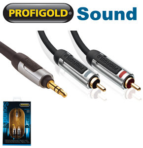 Profigold PROA3405 3.5mm jack to 2 x RCA Phono Audio Cable 5m