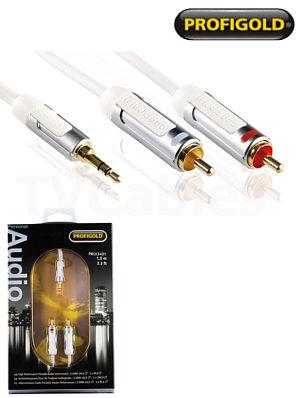 Profigold PROI3401 1m iPod Hi-Fi Audio Cable Portable Audio iPhone iPad