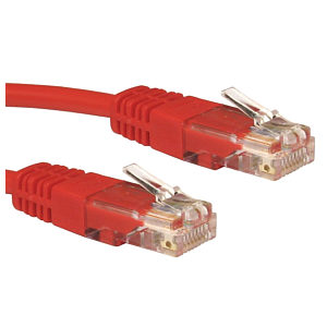 CAT5e Ethernet Cable UTP Full Copper, 1.5m, Red