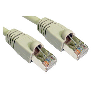 Snagless Shielded CAT6 Patch Cable, 20m, Grey