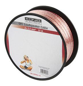 Image of 15m Speaker Cable 2 x 2.5mm OFC Transparent Jacket