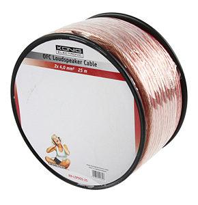 Image of 25m Speaker Cable 2 x 4mm OFC Transparent Jacket