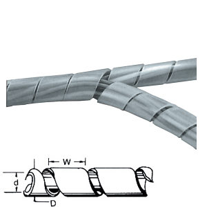 Spiral Cable Tidy 450mm Clear Frosted