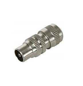 Image of Coax Plug TV Aerial Plug Aluminium 10 Pack