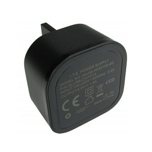 1 Amp USB Charger Single Port with UK Mains Plug