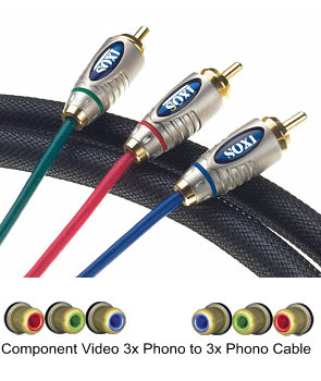 IXOS XHV704-100 1m Component Video Cable
