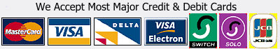 Pay securely with most major credit & debit cards.