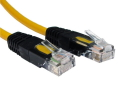 1m CAT5e Crossover Network Cable Full Copper yellow