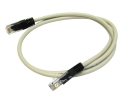 1m CAT5e Crossover Network Cable Full Copper grey